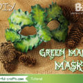 How to make a green man mask - tutorial