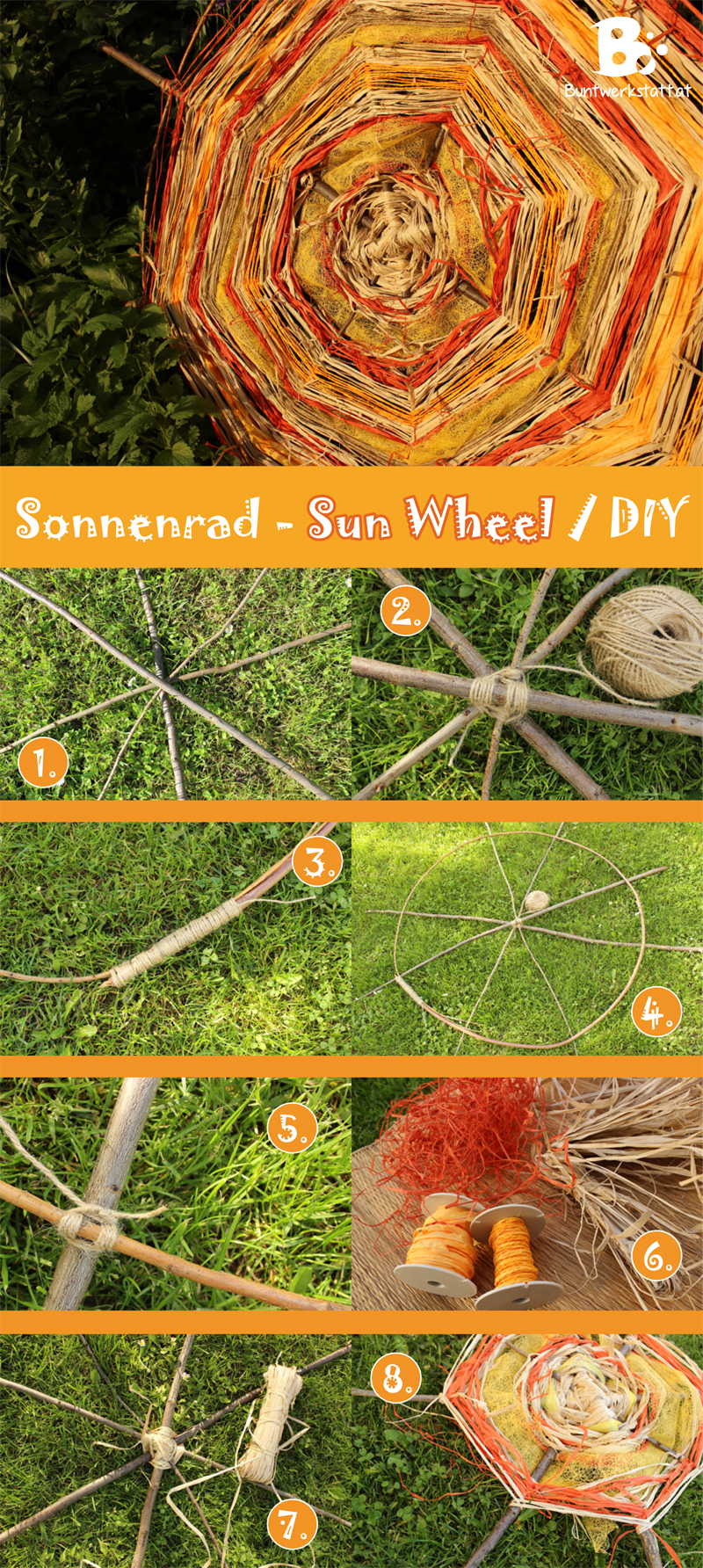 DIY Sun Wheel – garden decoration