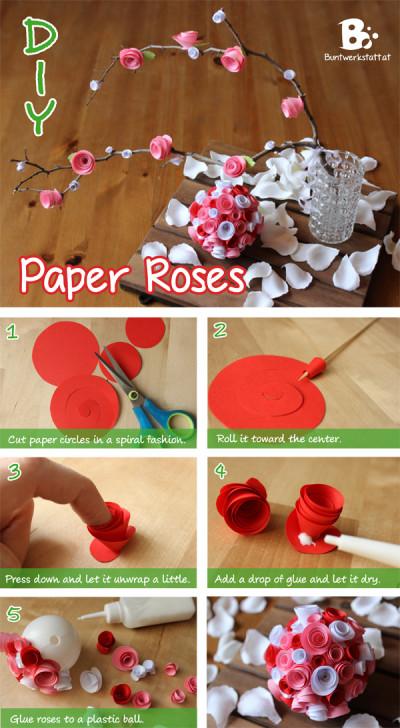 DIY Paper Roses Tutorial