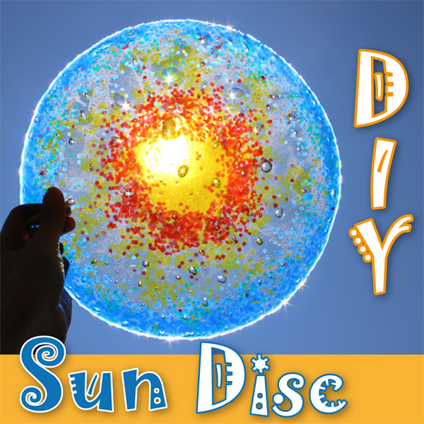 DIY Sun Disc – melted beads craft