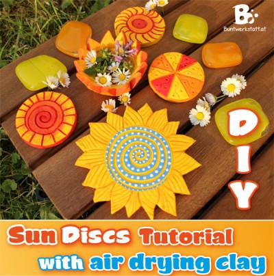 Air drying clay – sun discs