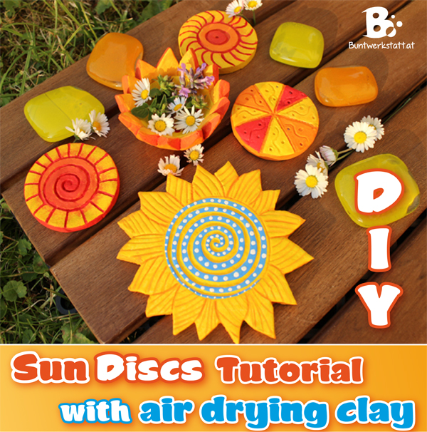 Air drying clay – sun discs