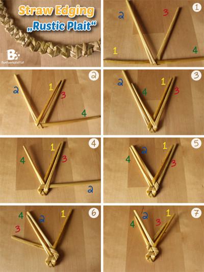 Straw Plaiting – Rustic Plait (Tyrolean Plait)