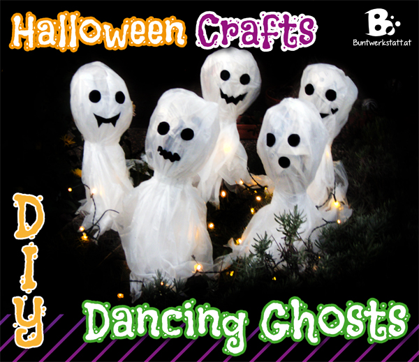 Dancing Ghosts – Halloween Crafts for kids