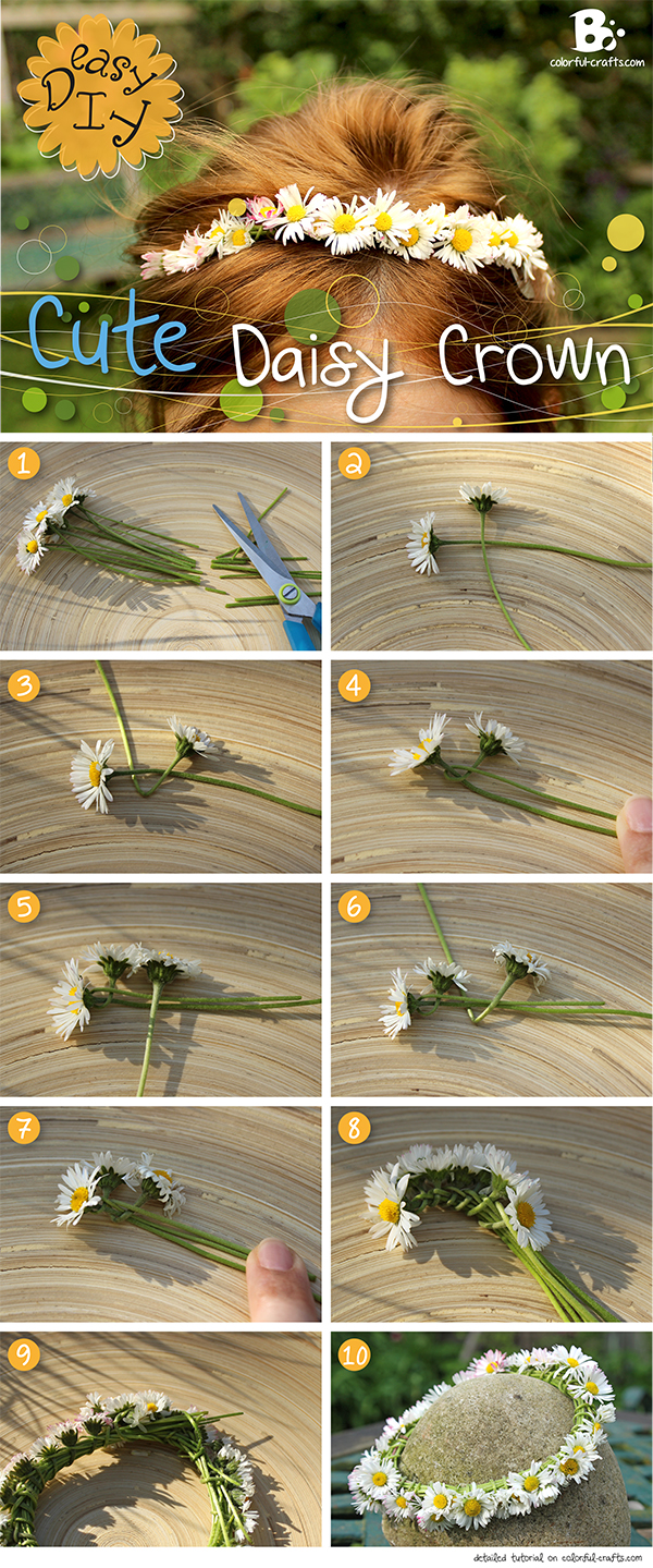 Cute Daisy Crown DIY