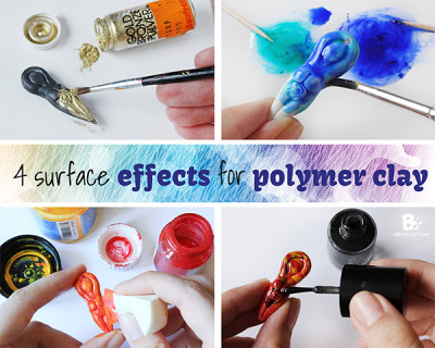 4 surface effects for polymer clay
