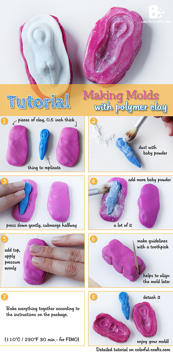 Polymer Clay Mold Tutorial