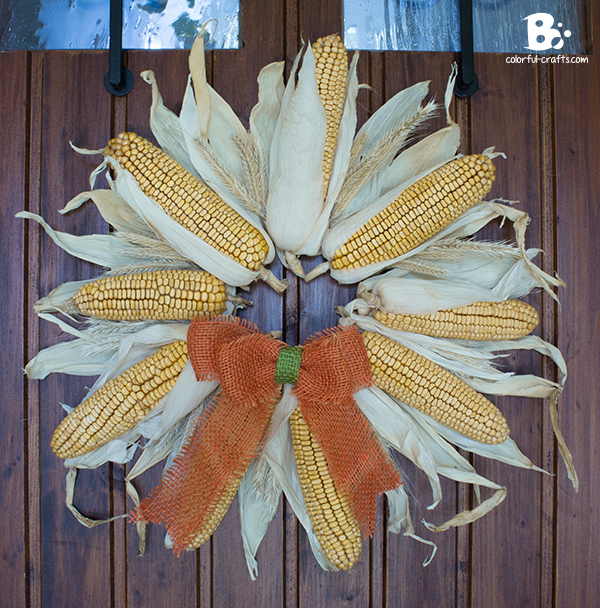 easy corn wreath DIY