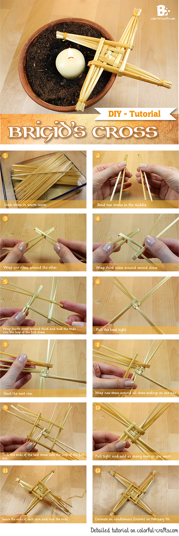 DIY Brigids Cross Tutorial