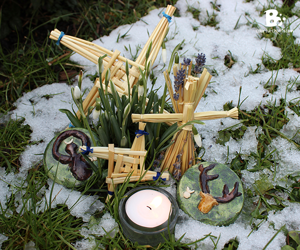 Imbolc DIY Brigids Cross Tutorial
