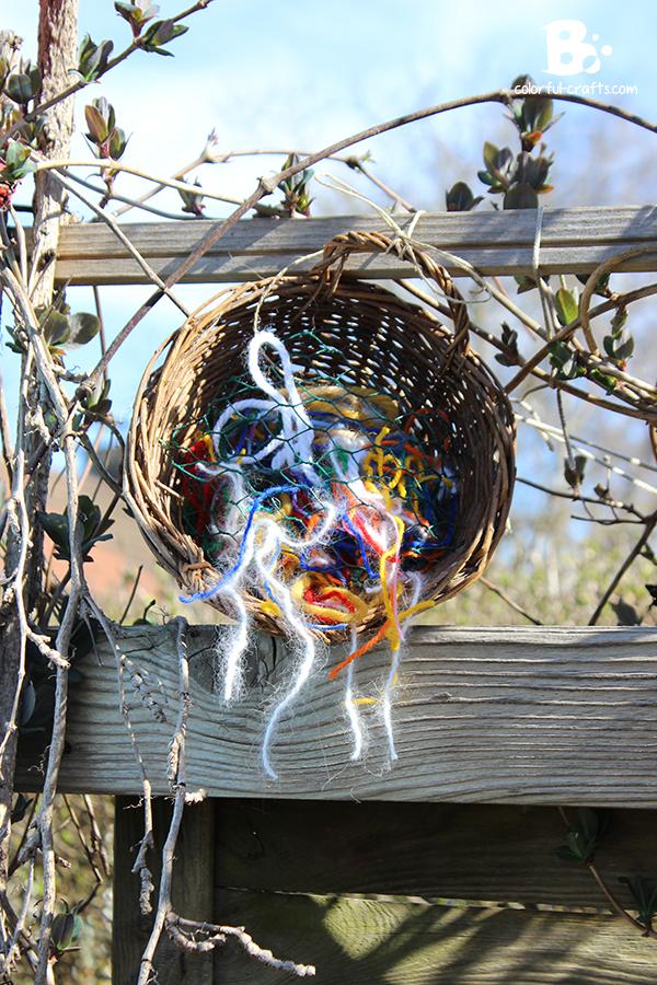 bird nesting material DIY
