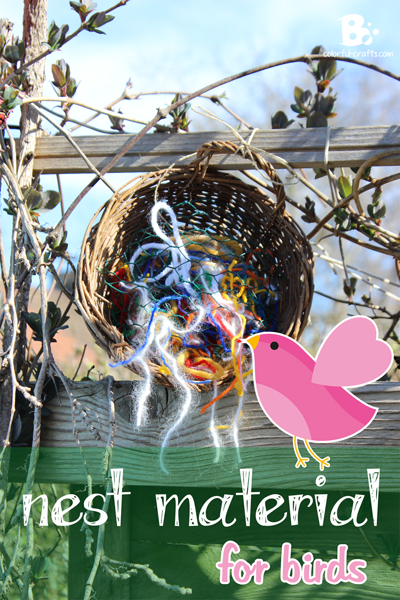 DIY bird nesting material – wool dispenser