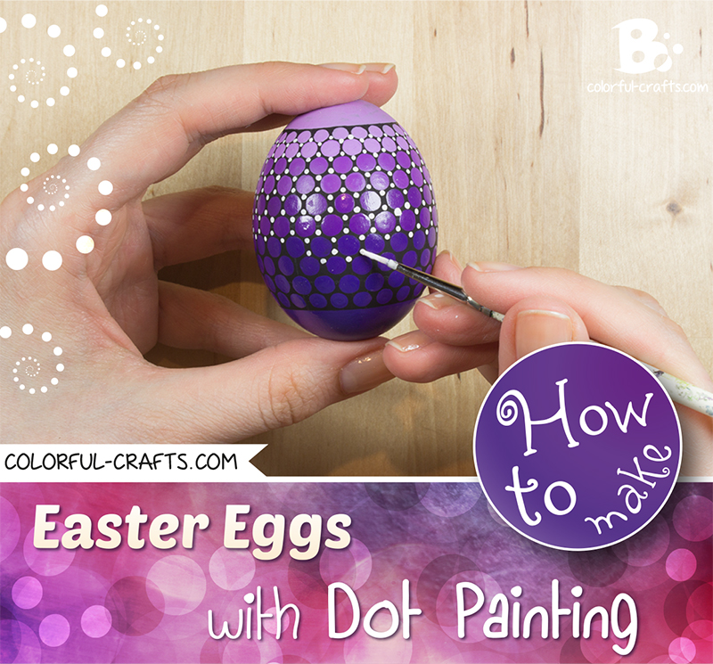 How to paint Easter Eggs – Dot painting color gradient