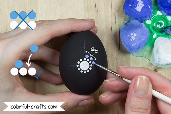 How to paint Mandala Easter Eggs - Tutorial