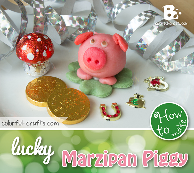 DIY – lucky marzipan pig tutorial