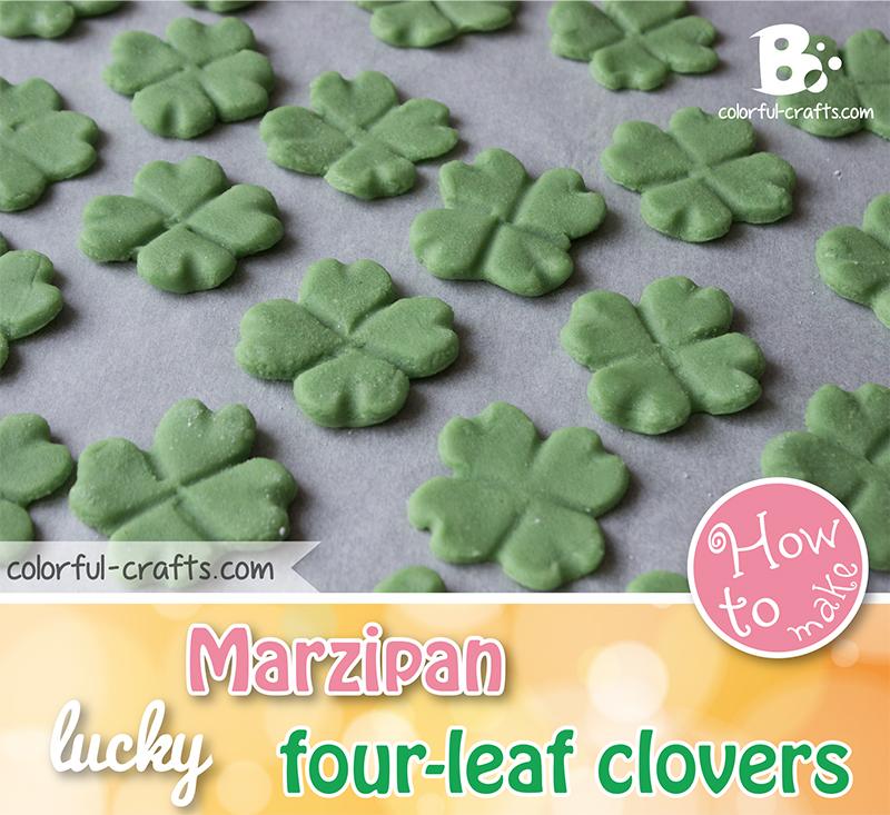 Lucky Marzipan Clover Tutorial